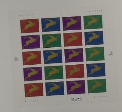 Us Scott 3360 - 3363 Pane Of 20 Christmas Greetings Stamps 33 Cent Face Mnh