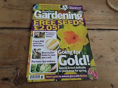 Amateur gardening magazine without seeds Sept 2018