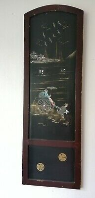 4 Vintage Quadriptych Japanese Wall Art Panels Mother Of Pearl