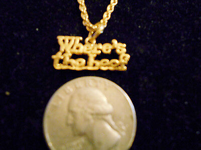 bling gold plated cook cheif wheres beef pendant charm chain hip hop necklace gp