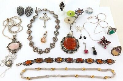 Exceptionally Good Lot Sterling Silver Jewellery. Great Resale Potential. *1