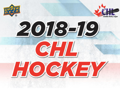 2018-19 Upper Deck CHL Hockey Insert Cards Pick From List (All Versions)