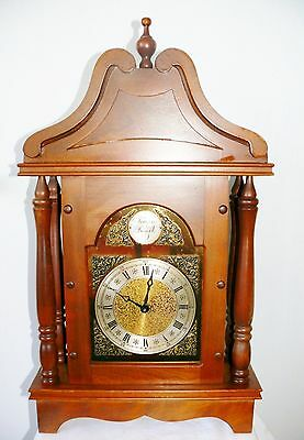 Antique Konrad Mauch Schwennigen W Germany Wood Tempus Fugit Shelf Mantel Clock
