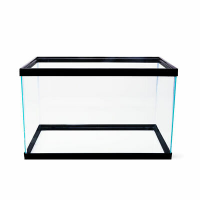 10 Gallon Fish Tank Aquarium Clear Glass Terrarium Pet Aqua Home Reptiles Fishes