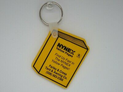 Vintage NYNEX Yellow Pages Advertising Keychain