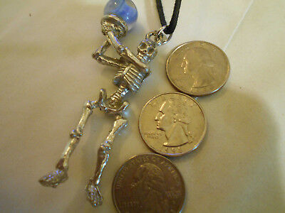 bling pewter skeleton MYTH druid gothic DRUID pendant charm necklace JEWELRY DIY