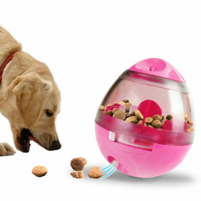 Pet Food Ball Fun & Interactive Treat Dispensing Toys for Dog & Cat red