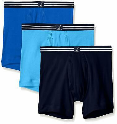 Nautica Mens Classic Cotton Boxer Brief Multi Pack- Select SZ/Color.