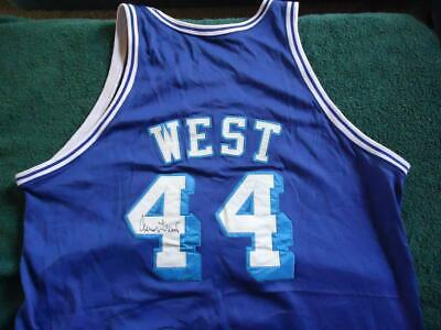 fce40270c3bf Jerry West  44 Autographs Jersey Los Angeles Lakers 1961-62