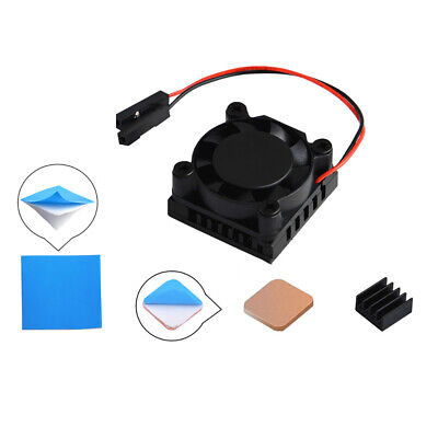 For Raspberry Pi 3B/3B+ Square 1/2 Dual Fan Single Fast Cooling Fan w/ Heatsink