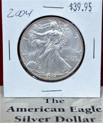 2004 Silver American Eagle BU 1 oz US $1 Dollar Mint Uncirculated Brilliant *004