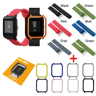 Cover Sports Silicone Strap Plastic PC Shell For Huami Amazfit Bip Youth Watch