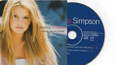 CD single Jessica SIMPSON	I Wanna Love You Forever FRENCH PROMO 2-TRACK CARD SLE