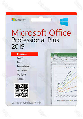 Microsoft Office Pro Professional PLUS 2019  - 32 & 64 BIT - WINDOWS 10 INSTANT*