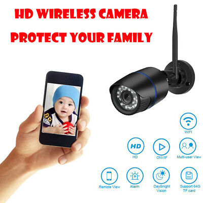 HD1080/720P Security Home Wireless WIFI IP Outdoor IR Night Vision Motion Camera