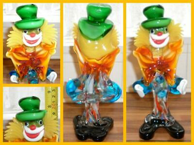 Vintage Murano Venetian Clown Italian Art Glass Italy Collectable Paperweight 1