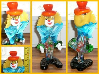 Vintage Murano Venetian Clown Italian Art Glass Italy Collectable Paperweight