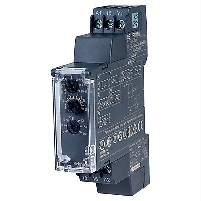 Schneider RE17RMMW 1s to 100h 10 Ranges 1CO Analogue Timer Relay
