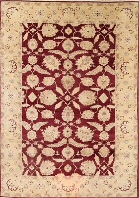 One-of-a-kind All-Over Floral Stark Oushak Egyptian Hand-Knotted 10x14 WOOL Rug