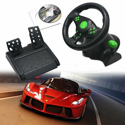 Racing Steering Wheel Gaming PS2 PS3 PC Vibration Games Fun Buttons Shif Gear