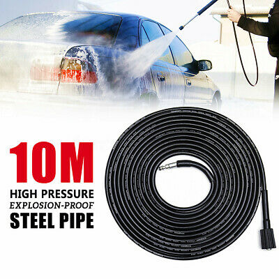 10M Pressure Washer Hose Steel Wire M22 Quick Connect For VAX LAVOR Trigger