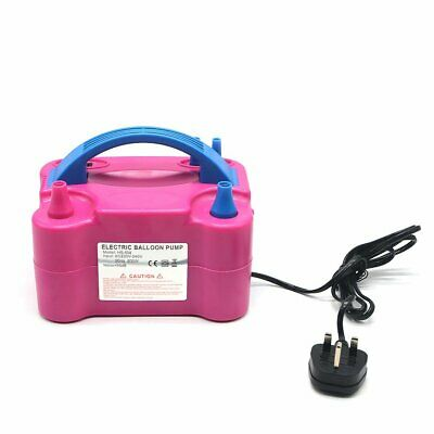 High Power  600W Electric Balloon Pump Inflator Air Blower 2 Nozzle Party UK