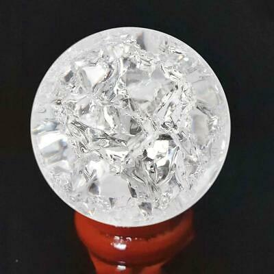 40mm Natural Clear Quartz Crystal Sphere Ball Healing Gemstone Home Decor Gift