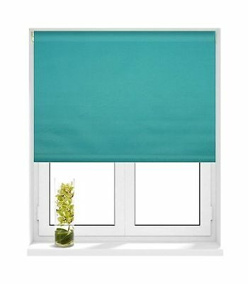 Sunlover THERMAL BLACKOUT Roller Blind. Teal Turquoise. 180cm width