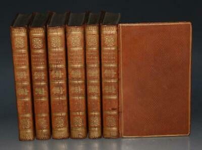 Goldsmith's Natural History Earth Animals Illustrated 6 Vols Fine Binding 1805