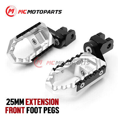 For MV Agusta F4 1078 2009+ Silver Aluminum Riser Rider Footpegs Footrests