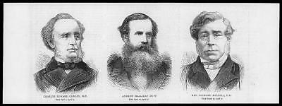 1877 Antique Print -  PORTRAITS Charles Cawley Andrew Duff Richard Michell (68)
