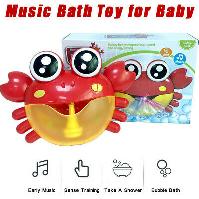 Bubble Machine Big Crab Automatic Bubble Maker Blower Music Bath Toy For Baby