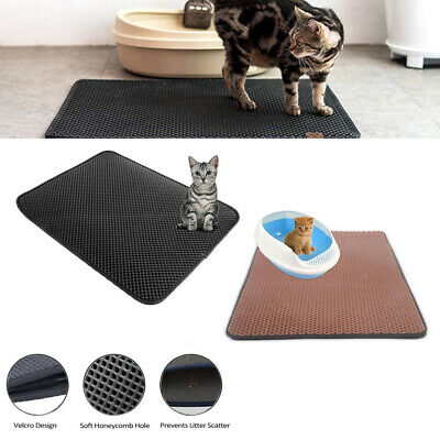 Newest Cat litter Mat - Double Layer Pad - Large Flexible Trapping for Box Pan