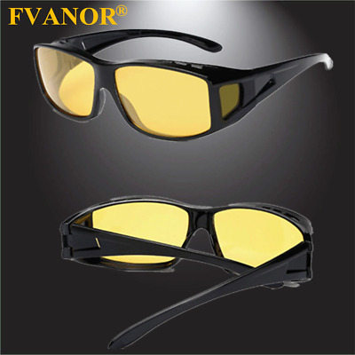 8d644493c031 HD Night Vision Driving Glasses Over Wrap Around Anti Glare Sunglasses  Eyewear