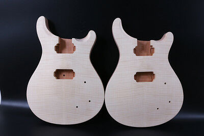1pcs unfinished Guitar body Mahogany Flame Maple Wood DIY electric guitar