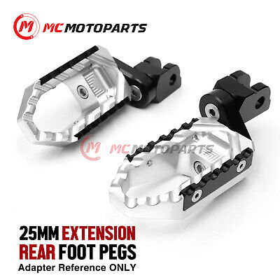 For 1078RR/989R Brutale 08+ SILVER 25mm Extended Touring Footpegs Passenger Set