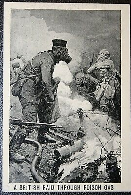 British Army Trench Raid  Somme 1916  World War 1   Action Card  VGC