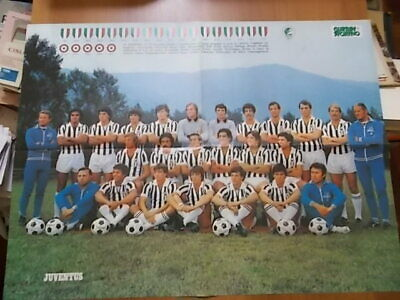 GUERIN SPORTIVO manifesto  poster double face JUVENTUS / LIVERPOOL / BRUGES 1977