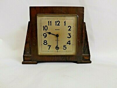 Vintage Art Deco Bayard French-Made 8 Day Wind-Up Mantle Clock.  (Hospiscare)