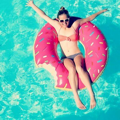 XL Inflatable Giant Swim Ring Swimming Pool Beach Adults Novelty Donut Float