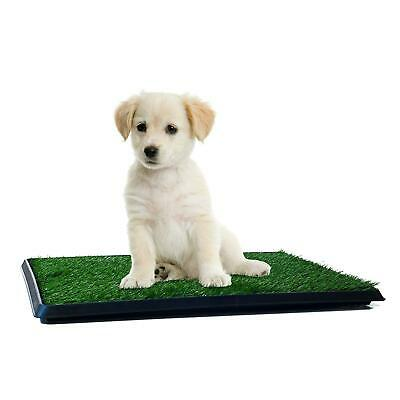 Puppy Potty Trainer Indoor Restroom For Pets Dog Training Pee Turf Grass Pad Mat