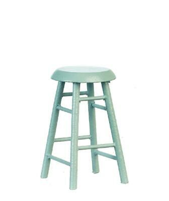 Dolls House Grey 4 Legged Bar Stool Miniature Kitchen Cafe Furniture 1:12 Scale