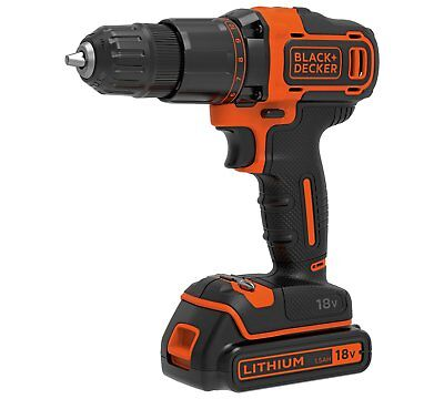 BLACK & DECKER 18V Hammer Drill BCD700S1KA with Accessories (R 8260385 DY)