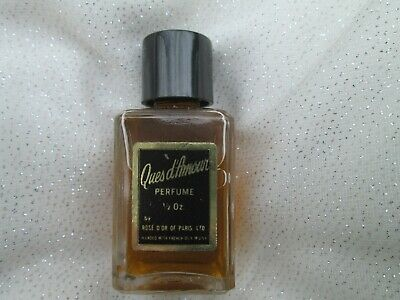 Vintage Rose D'or Of Paris Ques D Amour Perfume ~ 1/2 Oz Mint In Box Not Used