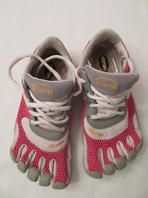 detailed look 94f97 f2aa3 Vibram Five Fingers Speed Shoes Pink W  Gray Jr 34 G333