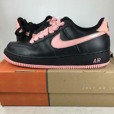 Nike Women's Air Force 1, Black, Real Pink 624022061 W10.5=Men's Size 9 USED, F4