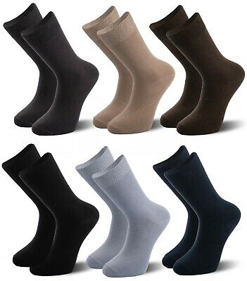 Cotton Rich Mens Socks, Coloured Comfortable Socks, size 6-10, 6/12/24  pairs