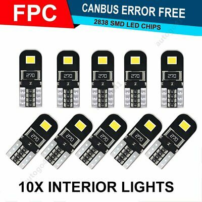10X T10 W5W 192 168 194 LED Car HID White CANBUS Error Free Wedge Light 2835-SMD