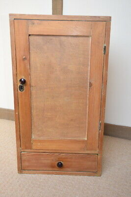 Small old stripped pine wall cupboard