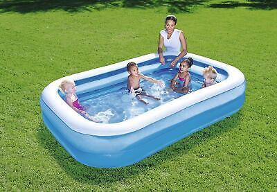 Bestway Inflatable 7-ft foot 2m Blue Rectangular Family Swimming Paddling Pool